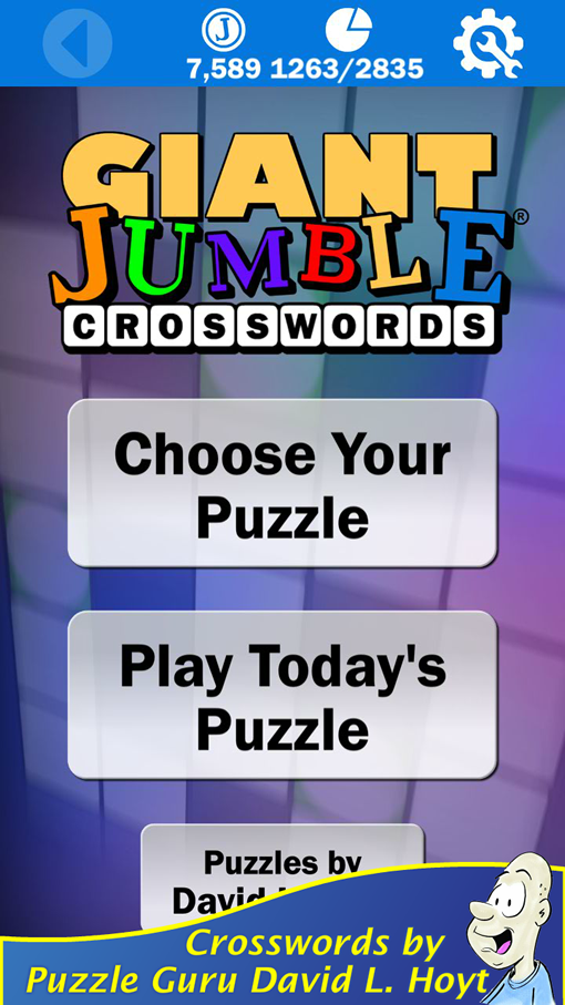 Jumble® Crossword landing screen