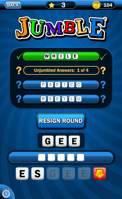 Just Jumble® - App for Jumble: That Scrambled Word Game